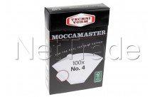 Moccamaster - Filterpapier nr. 4 (100 stück) - 85022