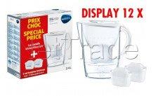 Brita - Fill& enjoy marella cool white 2.4l+2 maxtra display 12st - 1040954