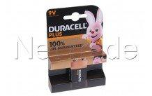 Duracell batterie alkaline mn1604 - 6lr61 - 9v - plus 100% lebensdauer - 12739