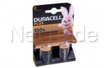 Duracell batterie  alkaline  mn1400 - lr14 - c - 1.5v - plus 100% live - bl.2st - 12737