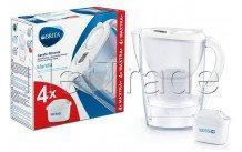 Brita marella cool white + 4 maxtra + filter - 1040691