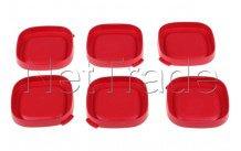 Seb - Roter quadratischer joghurtdeckel - 6 stück - SS1530000653