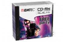 Emtec cd-rw 80min/700mb 4-12x jewel case (5 st/pcs) - ECOCRW80512JC