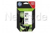 Hewlett packard - Hp 301 inkt combo 2-pak zwart/3color - N9J72AE