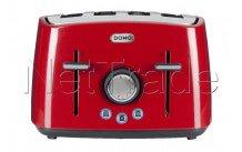 Domo - Broodrooster 4 sneden -  rood - DO971Tred