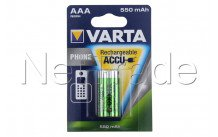 Varta - Akku telefon - aaa / hr03  550mah bls 2 t397 - 58397101402