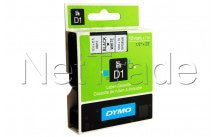 Dymo - Self-adhesive label tape black on white roll (1.2 cm x 7 m) 1 roll(s) - S0720530