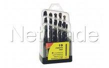 Cogex - Metall bohrer hss 1 x 10 mm - 19 stück - box verpackung - 24217