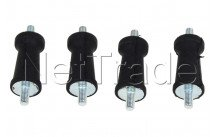 Universal - Ophangrubber recht - 4cm -  set 4 st. - 8996451873401