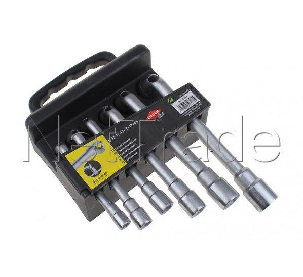 Cogex - Schlüssel mit öffnungsrohr 6 stück: 8-10-11-13-15-17 mm - 3569