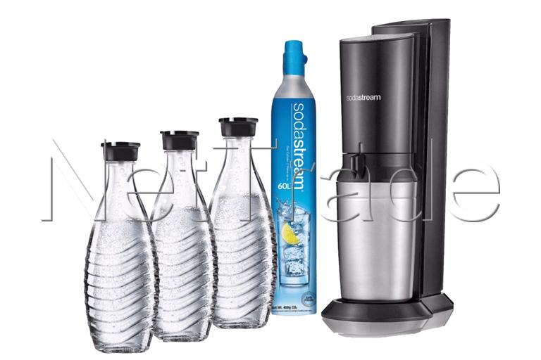 Sodastream Megapack Crystal Black+3 Carafes Black - 1016513311